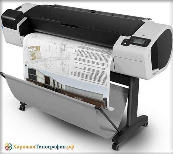 Широкоформатная печать схем